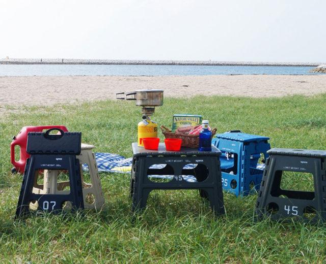 tri folding table&stool chapel Lesmo 沖縄
